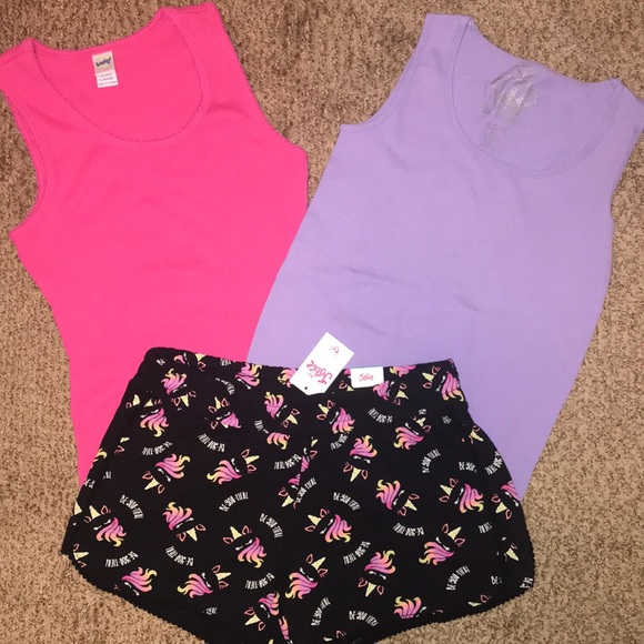 Clothing Shoes Accessories Outfits Sets Nwt Justice Girls Size 8 10 Activewear Tank Top W Sports Bra Shorts 2 Pc Set Sraparish Org